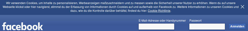 Cookie-Hinweis